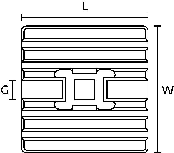 4-Wege-Klebesockel Typ \