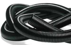 Flexible, leichte Wellrohre aus Polyamid, schwarz
