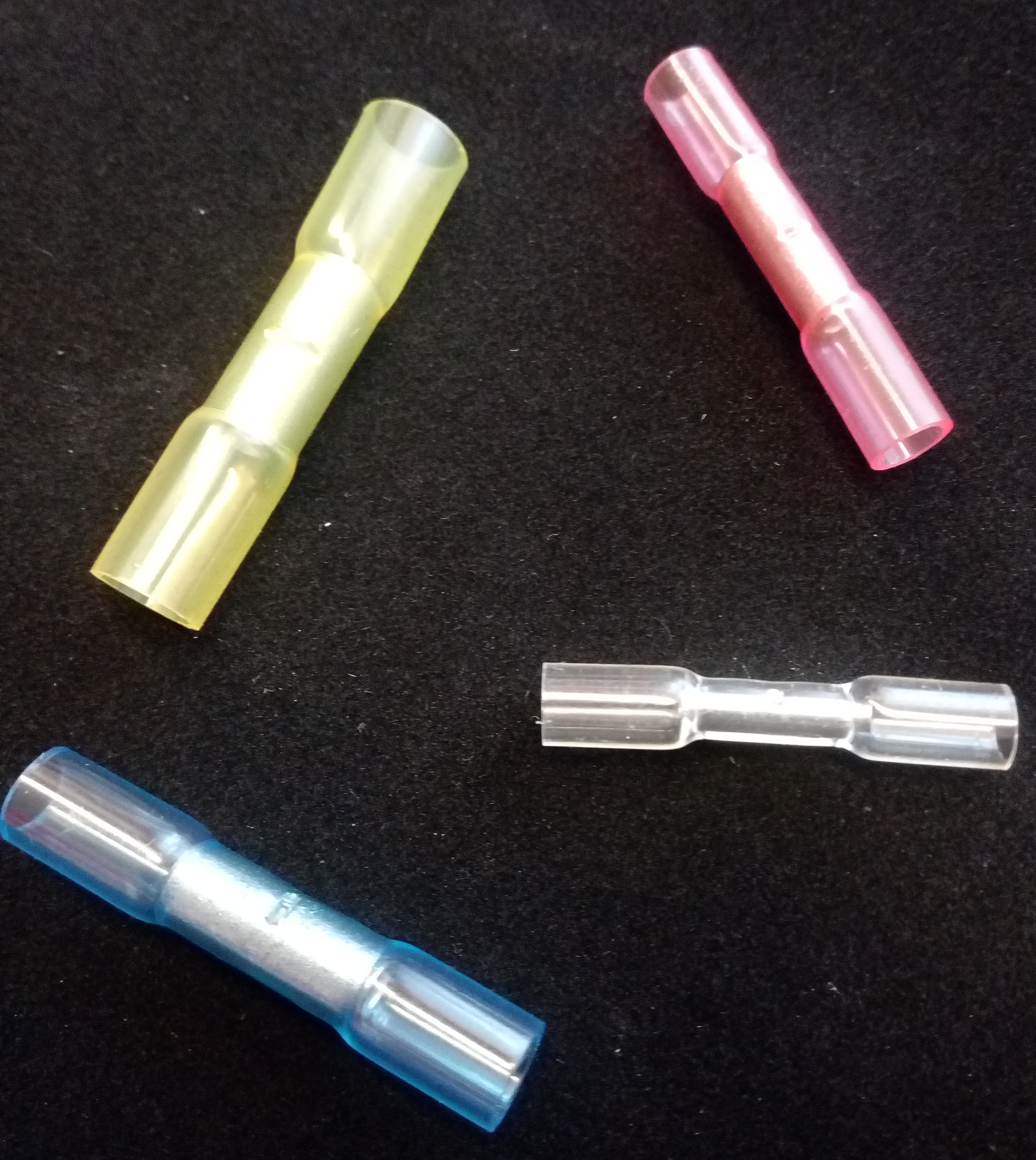 Stoßverbinder mit Wärmeschrumpfisolierung 0,5 - 6 mm2