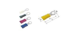 Isolierte Ringkabelschuhe 0,5 - 6 mm2