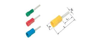 Isolierte Stiftkabelschuhe 0,5 - 6 mm2