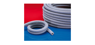 Kabelschutzschlauch mit kunststoffummantelter Stahldrahteinlage System